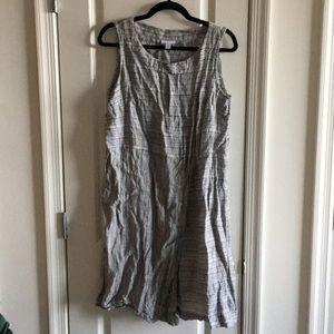 J Jill Size M linen woven gray sleeveless dress